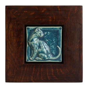 Ceramic Framed Cat Tile