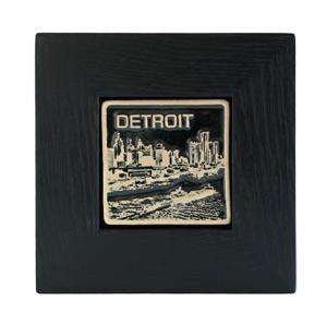 Ceramic Framed 4x4 Black & White Detroit