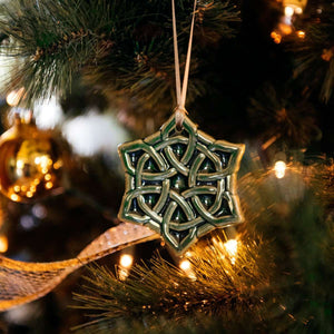 Ceramic Celtic Knot Ornament
