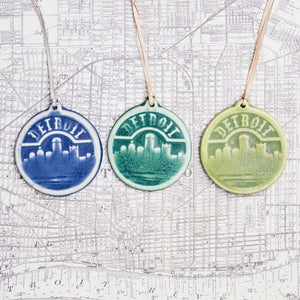 Ceramic Detroit Ornament