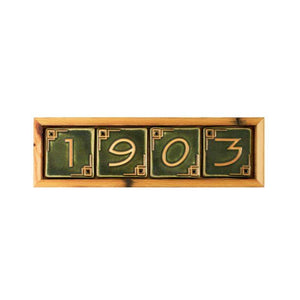 Ceramic 4 Digit Address Frame | Mutual Adoration