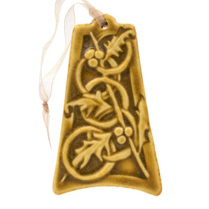 Ceramic Five Gold Rings Ornament