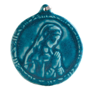 Ceramic Blessed Virgin Mary Ornament