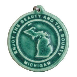 Ceramic Michigan Ornament
