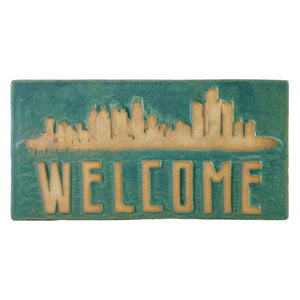 Ceramic Detroit Welcome Tile