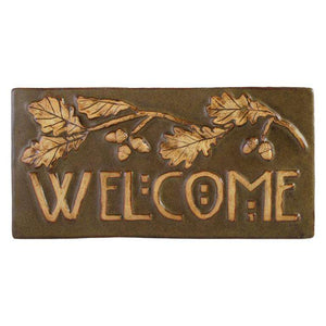 Ceramic Oak Welcome Tile