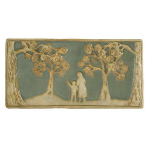 Ceramic Woman and Child Tile