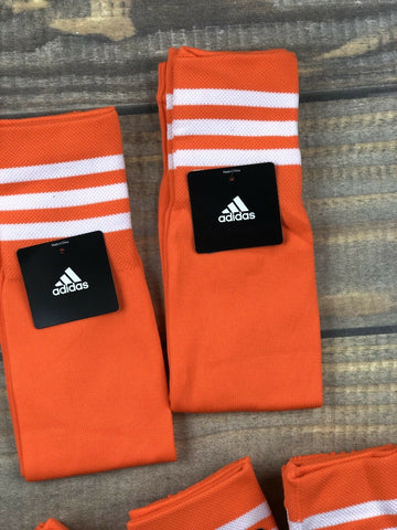 Adidas Adult Compression Calf Sleeve Pair Semi Solar Red/White NWT
