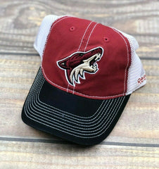NHL Arizona Coyotes Reebok Flex Brim Adjustable Snapback Mesh Hat Cap White, Red