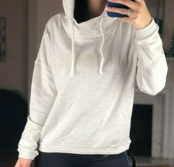 BENCH Brand Women's Oversized Current Pullover Hoodie Pale Grey Marl XS, L , XL - Vintage Buffalo Sports