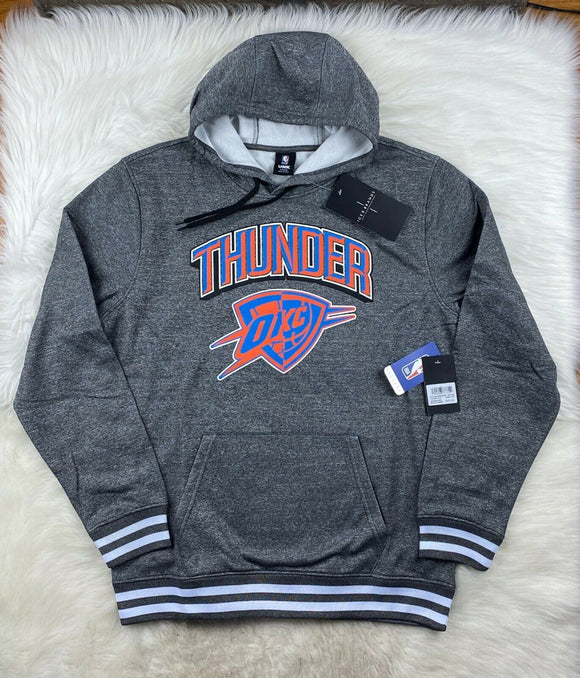 NBA Oklahoma City Thunder Hoodie Pullover Performance Poly Gray Men L NWT - Vintage Buffalo Sports