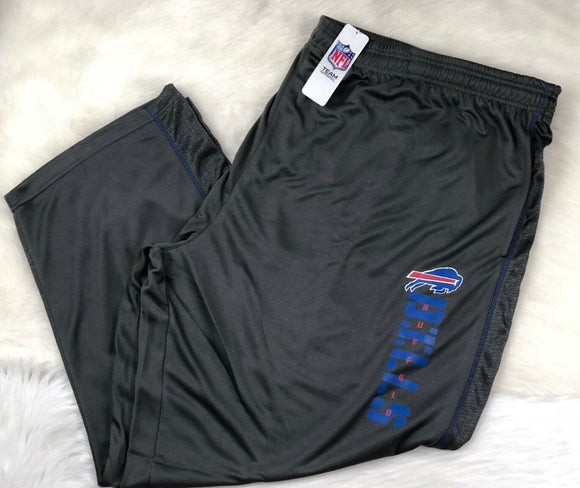 NFL Men's Big & Tall Performance Fleece Sweat Pants Charcoal 3XL 4XL 5XL 6XL - Vintage Buffalo Sports