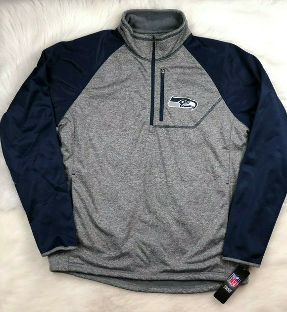 NFL Seattle Seahawks G-III Soft Shell 1/4 Zip Pullover Track Jacket Men's XL - Vintage Buffalo Sports