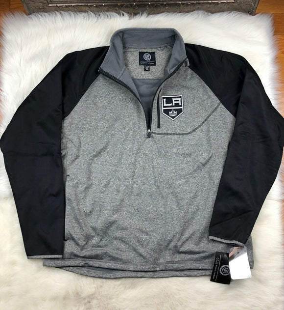 NHL Los Angeles Kings G-III Soft Shell 1/4 Zip Pullover Track Jacket Men's 2XL - Vintage Buffalo Sports