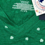 San Francisco Giants Short Sleeve V-Neck All Over Shamrock Green Shirt Women L - Vintage Buffalo Sports