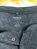 Vintage NHL Logo Reebok 4 Button Long Sleeve Henley Shirt Charcoal Gray Men M - Vintage Buffalo Sports