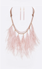 Ostrich Feather Statement Necklace