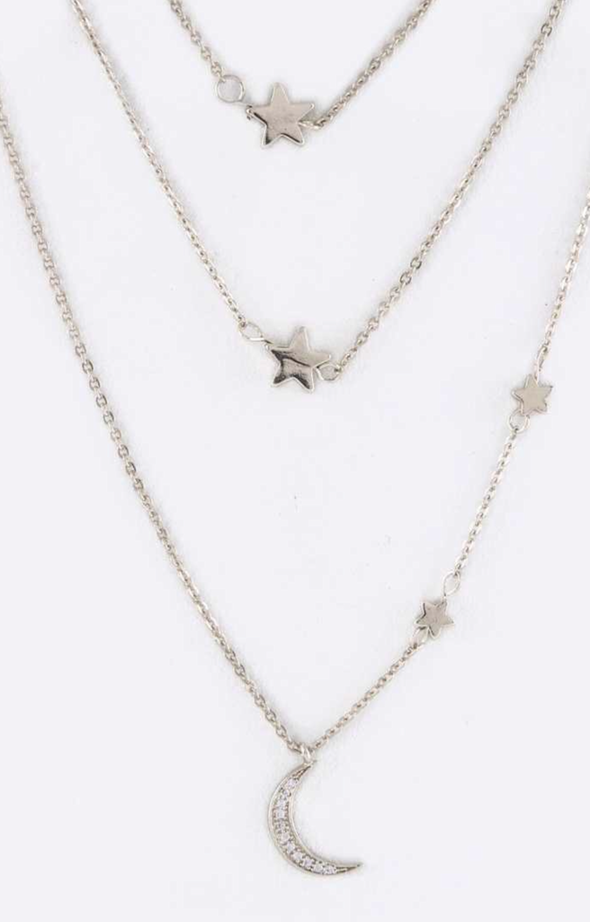 3 Tear Moon & Star's Necklace