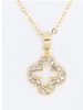 Crystal Lucky Clover Necklace