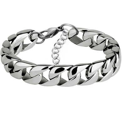 Flat Curb Chain Bracelet 7mm Men  316L