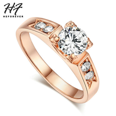 6 Items Classical Cubic Zirconia Forever Rings