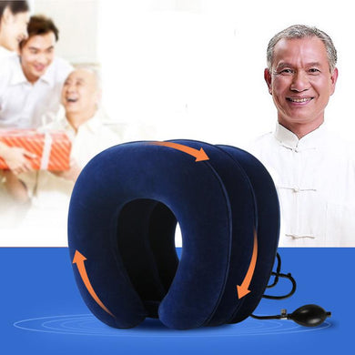 U Neck Inflatable Pillow: Cervical Traction