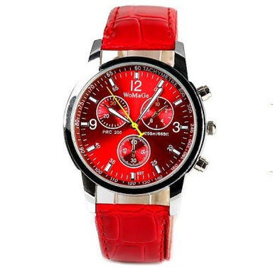 Men Fashion Sports Quartz Leather Watch