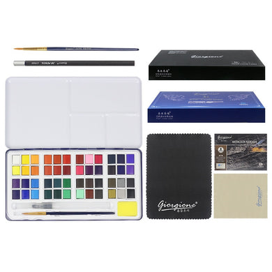 24/48Colors High Quality Solid Watercolor Set with paint brush