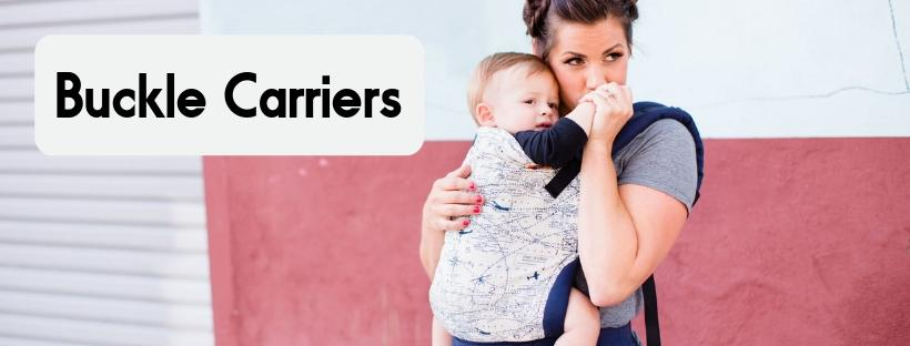 Ergonomic buckle baby sling carriers