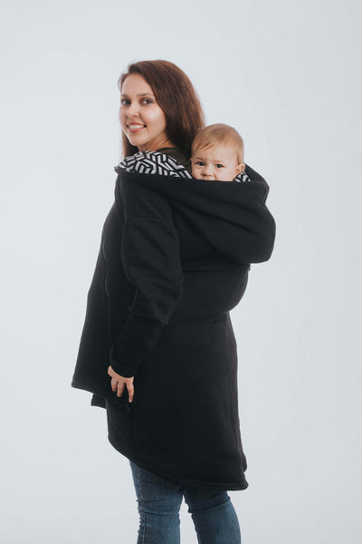 Asymmetrical Zip Sweater for pregnancy and babywearing from Lenny Lamb at Raising A Little
