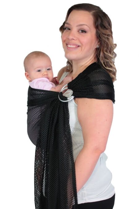 Black Chimparoo Air-O Mesh ring sling baby carrier for water
