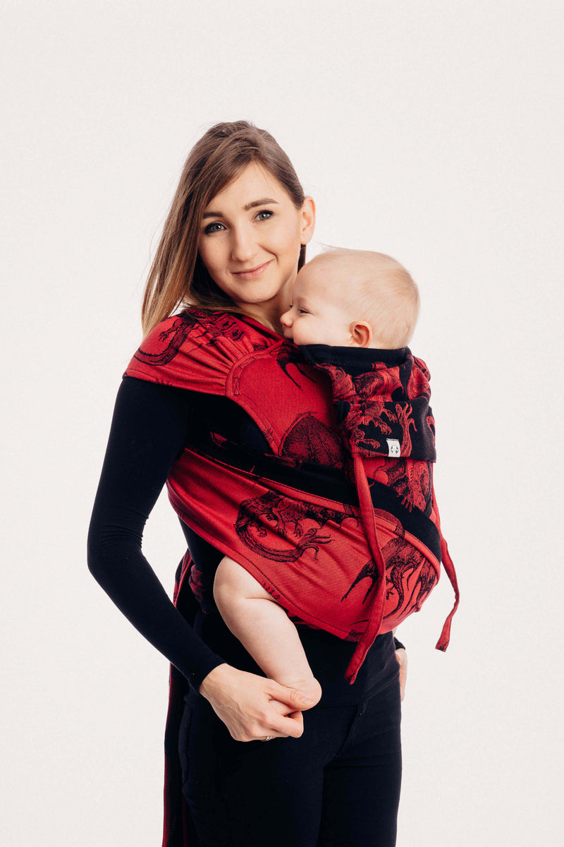 Fire and blood red mother of dragons meh dai wrap tai baby carrier