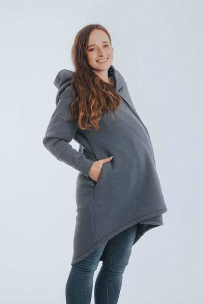 Grey, blue, purple and black Trinity Cosmos Lenny Lamb Pregancy, maternity and babywearing sweater