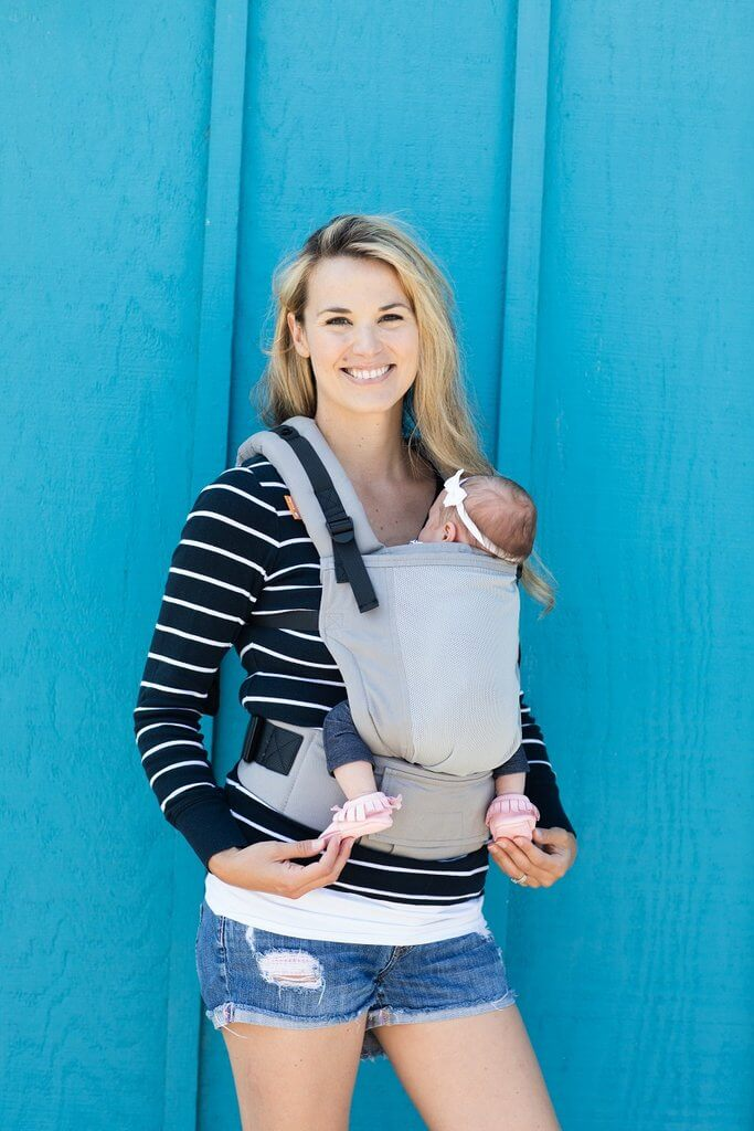 Grey Overcast Tula Coast free to grow baby carrier, Tula Free to Grow Mesh baby sling, Cool baby wrap, breathable baby carrier,