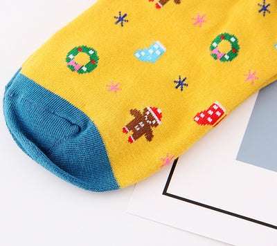 Christmas Women Girl Casual Cotton Socks