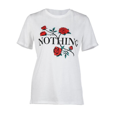 Nothing Letters Printing High Quality Short-Sleeved Shirt