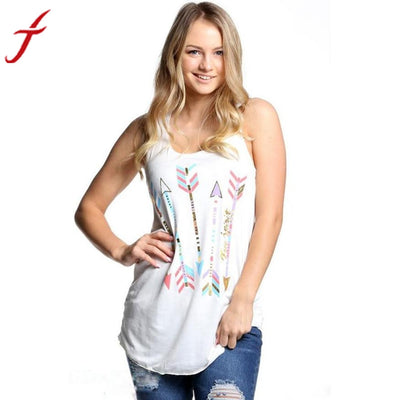 Fashion Women Sleeveless T-Shirt Casual