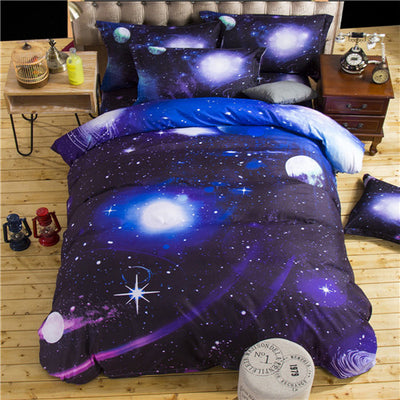 3D Galaxy Bedding Set