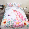Cute Unicorn Bedding Set Cartoon Duvet Cover