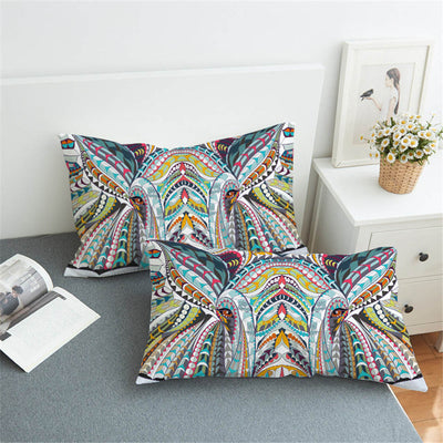 Elephant Colorful Pillow Case