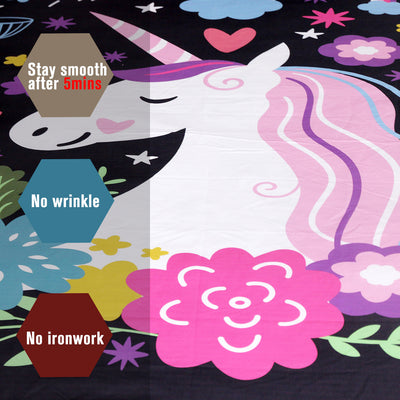 Unicorn Bedding Set Cartoon Print