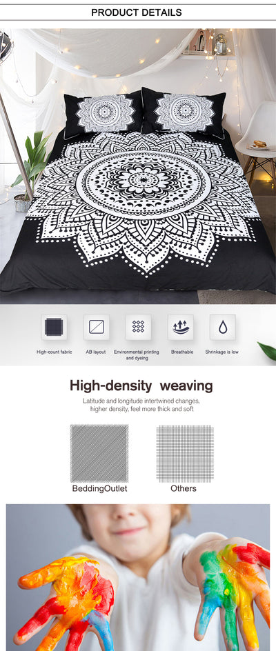 Mandala Print Bedding Set
