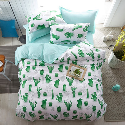 Solstice Cartoon Christmas Tree Elk Bedclothes