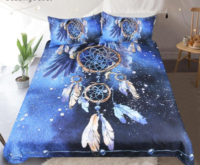 Dream Catcher Bedding Set Feather Printed