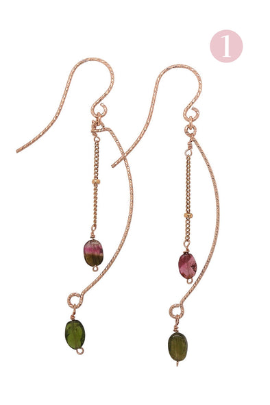 Jennifer Tourmaline Hook Earrings