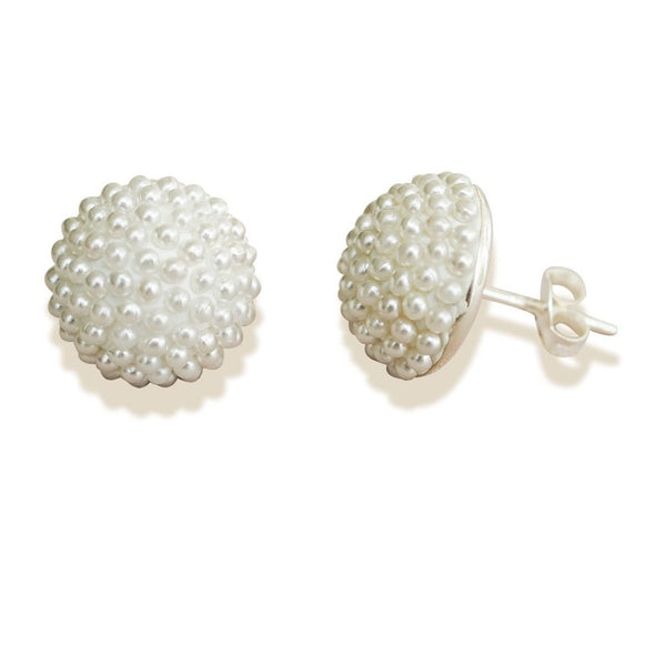 Studs Encrusted with Mini Pearls