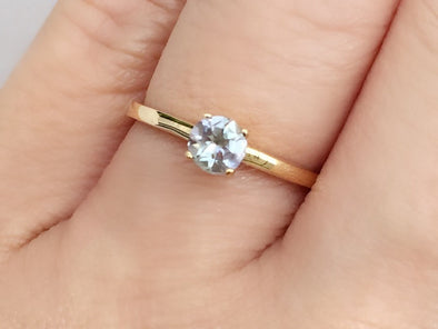 Tanzanite Solitaire Ring in 14K Yellow Gold