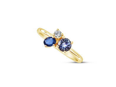 Blue Skies Ring in 14K Yellow Gold