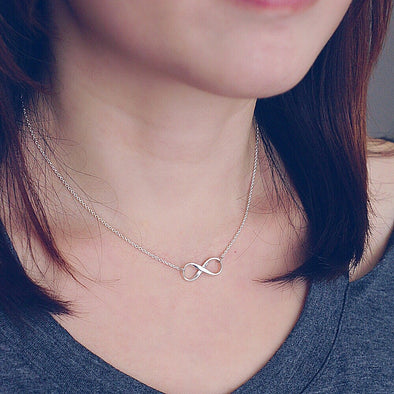 Sterling Silver Infinity Logo Necklace