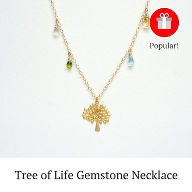 Tree of Life Gemstone Necklace